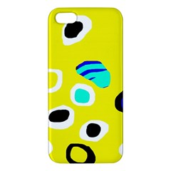 Yellow abstract pattern iPhone 5S/ SE Premium Hardshell Case