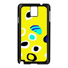 Yellow abstract pattern Samsung Galaxy Note 3 N9005 Case (Black)