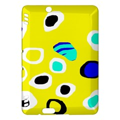 Yellow abstract pattern Kindle Fire HDX Hardshell Case