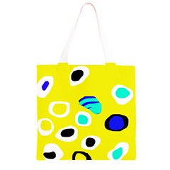 Yellow abstract pattern Grocery Light Tote Bag