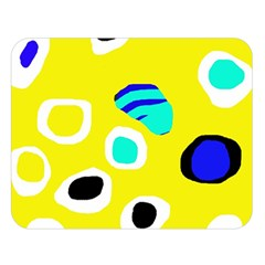 Yellow abstract pattern Double Sided Flano Blanket (Large)