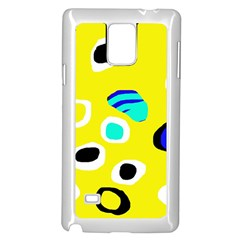 Yellow abstract pattern Samsung Galaxy Note 4 Case (White)