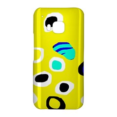 Yellow abstract pattern HTC One M9 Hardshell Case