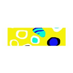 Yellow abstract pattern Satin Scarf (Oblong)