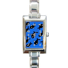 Cute fishes Rectangle Italian Charm Watch