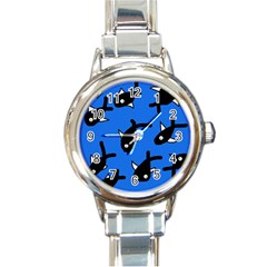 Cute fishes Round Italian Charm Watch