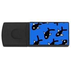 Cute fishes USB Flash Drive Rectangular (1 GB)