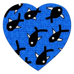 Cute fishes Jigsaw Puzzle (Heart)