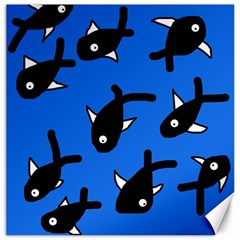 Cute fishes Canvas 12  x 12