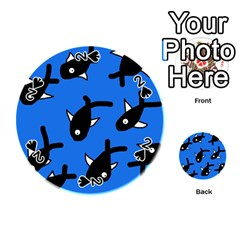 Cute fishes Playing Cards 54 (Round)