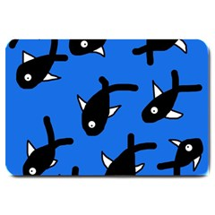 Cute fishes Large Doormat