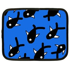 Cute fishes Netbook Case (Large)