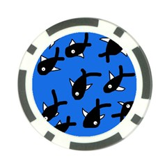 Cute fishes Poker Chip Card Guards (10 pack)