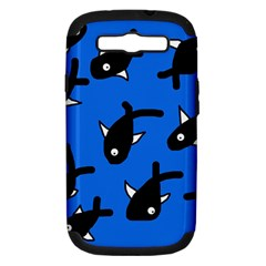 Cute fishes Samsung Galaxy S III Hardshell Case (PC+Silicone)
