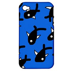 Cute fishes Apple iPhone 4/4S Hardshell Case (PC+Silicone)