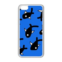 Cute fishes Apple iPhone 5C Seamless Case (White)