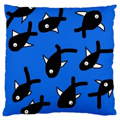 Cute fishes Standard Flano Cushion Case (One Side)