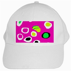 Pink abstract pattern White Cap