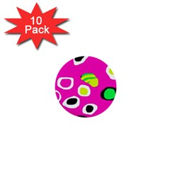Pink abstract pattern 1  Mini Buttons (10 pack)
