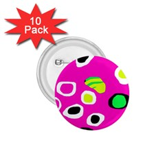 Pink abstract pattern 1.75  Buttons (10 pack)