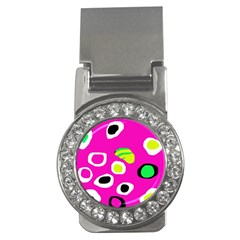 Pink abstract pattern Money Clips (CZ)