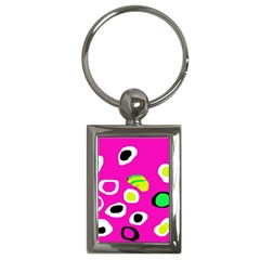 Pink abstract pattern Key Chains (Rectangle)