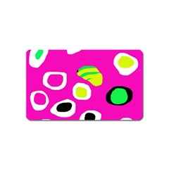 Pink abstract pattern Magnet (Name Card)