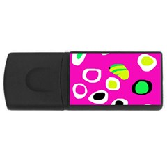 Pink abstract pattern USB Flash Drive Rectangular (2 GB)