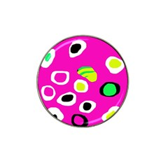 Pink abstract pattern Hat Clip Ball Marker (4 pack)