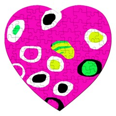 Pink abstract pattern Jigsaw Puzzle (Heart)