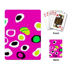 Pink abstract pattern Playing Card