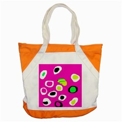 Pink abstract pattern Accent Tote Bag