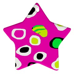 Pink abstract pattern Star Ornament (Two Sides)