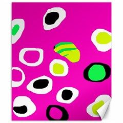 Pink abstract pattern Canvas 8  x 10