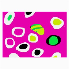 Pink abstract pattern Large Glasses Cloth