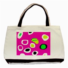 Pink abstract pattern Basic Tote Bag (Two Sides)