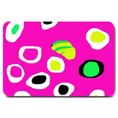 Pink abstract pattern Large Doormat