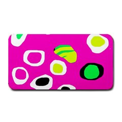 Pink abstract pattern Medium Bar Mats