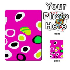 Pink abstract pattern Multi-purpose Cards (Rectangle)