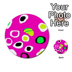 Pink abstract pattern Multi-purpose Cards (Round)