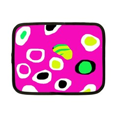 Pink abstract pattern Netbook Case (Small)