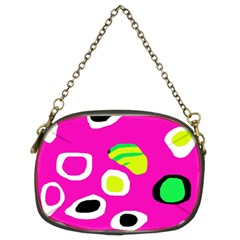 Pink abstract pattern Chain Purses (Two Sides)
