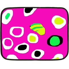 Pink abstract pattern Double Sided Fleece Blanket (Mini)