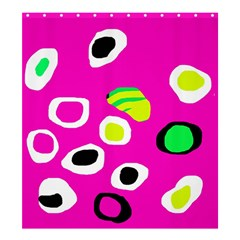 Pink abstract pattern Shower Curtain 66  x 72  (Large)