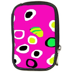 Pink abstract pattern Compact Camera Cases