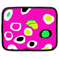 Pink abstract pattern Netbook Case (XL)
