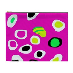 Pink abstract pattern Cosmetic Bag (XL)