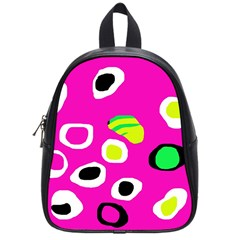 Pink abstract pattern School Bags (Small)