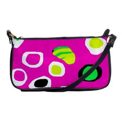Pink abstract pattern Shoulder Clutch Bags