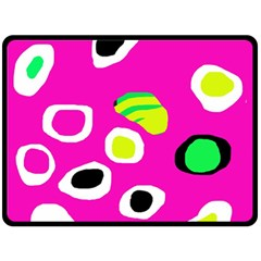 Pink abstract pattern Fleece Blanket (Large)